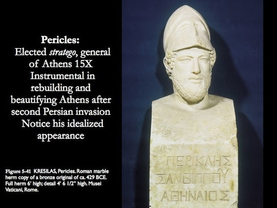 pericles the man who identified an era in ancient greece The impact of ancient greece on the modern world,  this man is relevant to today,  pericles was a wise and honorable statesman in athens.